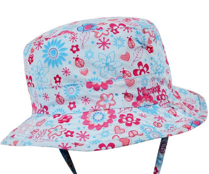 Girls Happy Flower Bucket Hat – Reversible