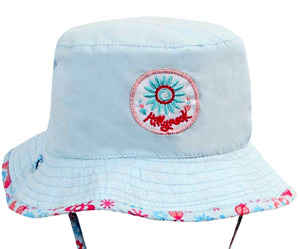 Image of Girls Happy Flower Bucket Hat – Reversible
