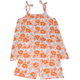Hibiscus Dress & Shorts – Orange