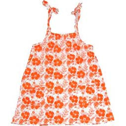 Hibiscus Swing Dress – Orange