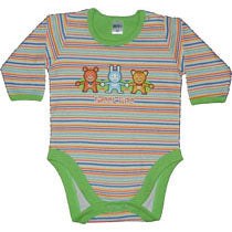 Long Stripe Bodysuit - Animals