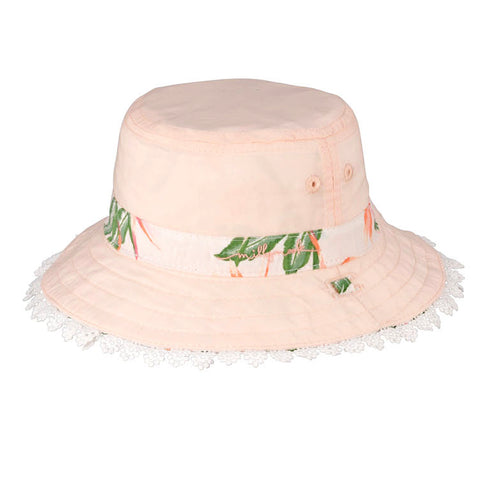 Baby Girls Sofi Cotton Hat - Reversible