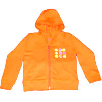 Orange Hoodie – Retro Flowers