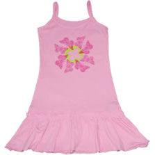 Pink Frill Dress - Butterfly