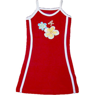Red Tennis Dress - Flowers