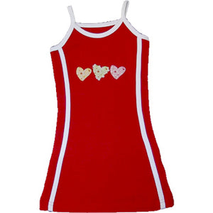 Red Tennis Dress - Hearts
