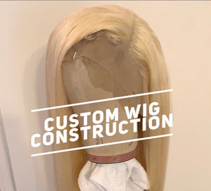 Custom wig unit construction