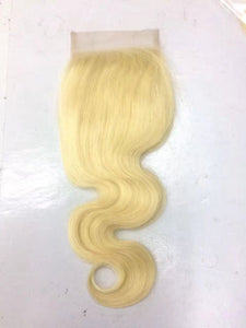 613 Russian Blonde 4*4 Closure