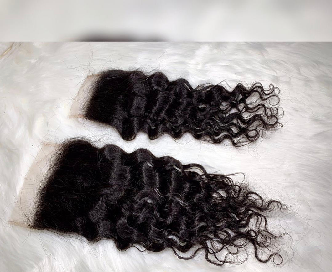 Natural Wave 4x4 and 5x5 closure
