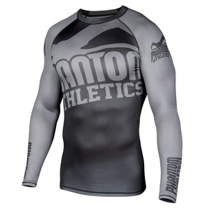 Phantom Athletics Kompressionsshirt Compression Shirt Longleeve Rashguard Schwarz Black Grau Gray langarm