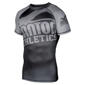 Phantom Athletics Kompressionsshirt Compression Shirt Shortsleeve Rashguard Schwarz Black Grau Gray