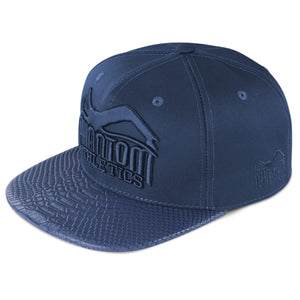Phantom Athletics Cap Blue Blau Navy Croco Python Flatbill Snapback