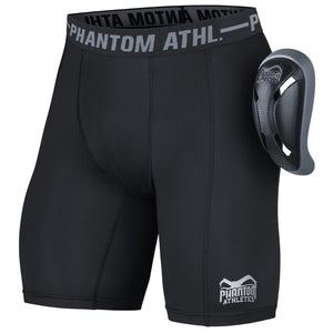 Phantom Athletics Tiefschutz Shorts Vector inkl. Cup Suspensorium Compression Short Kompression Unterhose