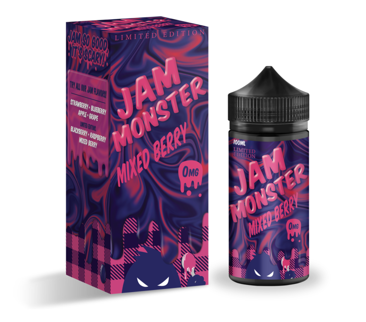 Jam Monster | Mixed Berry | Limited Edition 0mg | Wholesale