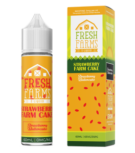 Fresh Farms Eliquids Original range 60ml | Strawberry Farm Cake - Strawberry Buttercake