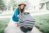 Black and white multi use car seat cover
