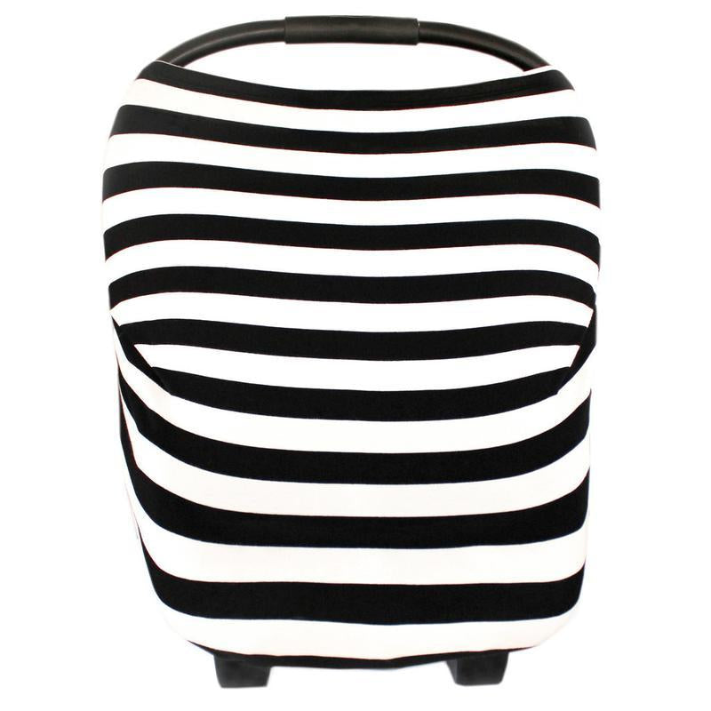 Soft lightweight black and white striped 5 in one cover for baby