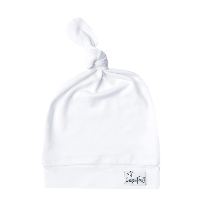 White newborn hat