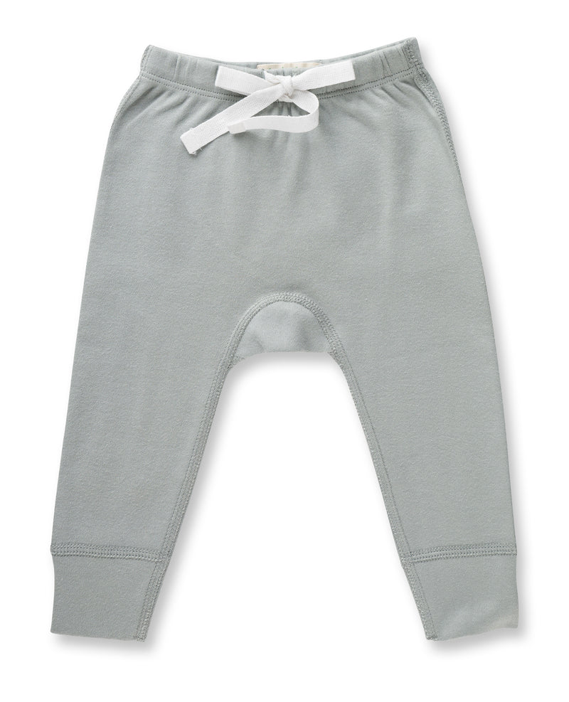 Soft light dove grey pants with drawstring for baby