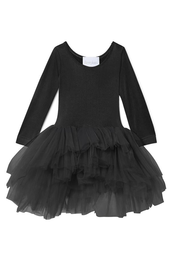 Black long sleeve tutu with lots of tulle