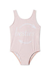 light pink one piece girls bathing suit