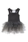 Dark grey tutu with lots of tulle