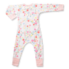 Pink floral zip romper for girls by Sapling Child