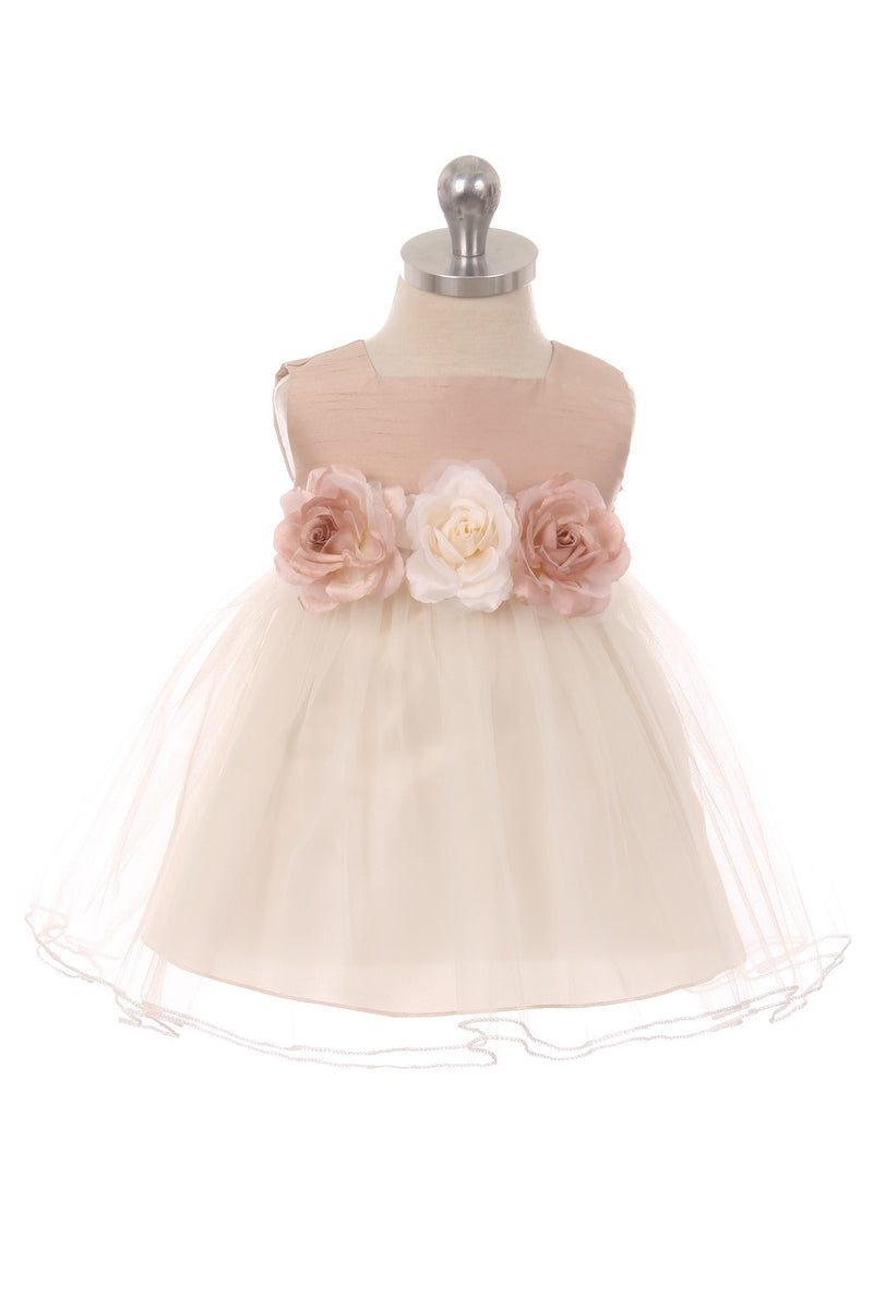 Vintage Rose Satin Tulle Dress
