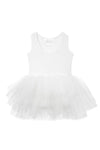 white tutu with snap closures