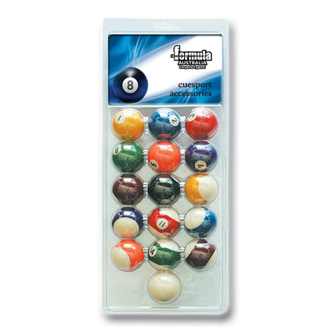 "2"" Recreational Pool Balls Blister Pack FSA"