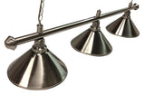 Pool Table Light 3 Shade - Brushed Chassis- Choose Your Shade Colour