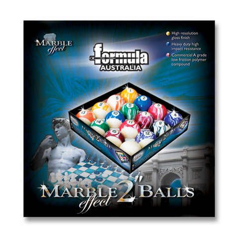 "2"" Pool Balls Marble Finish FSA"