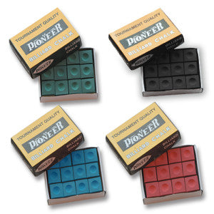 Pioneer Billiard Chalk Box of 12 FSA