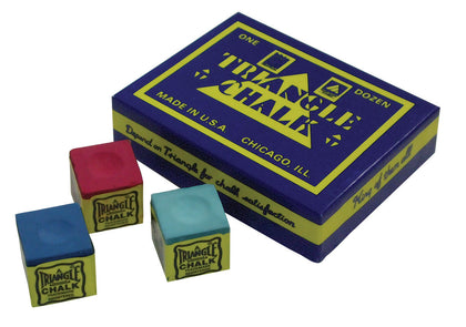 Triangle Billiard Chalk Box of 12
