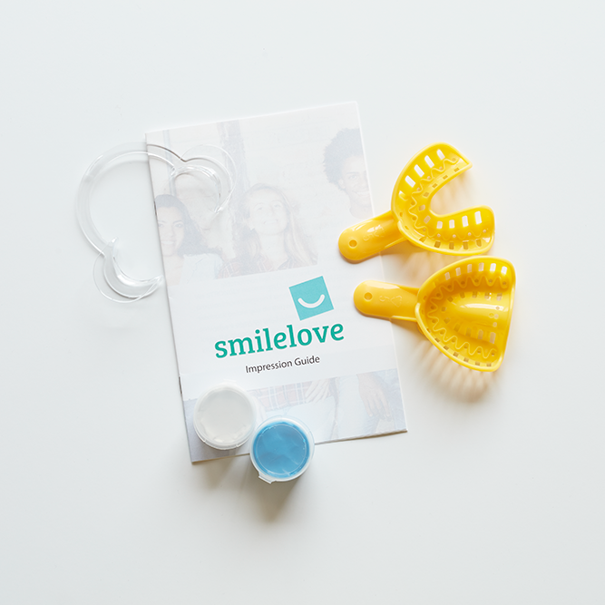 Impression Kit To Straighten Teeth | Smilelove Canada