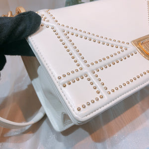 Dior Diorama Bag Calfskin White GHW Small (Used)