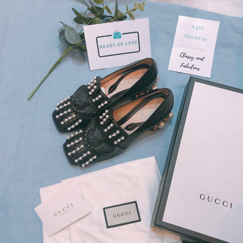 Gucci Malaga Kid Shoes Black Size37.5 (New)