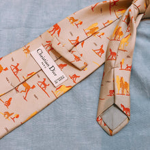 Load image into Gallery viewer, Christian Dior Horse Tie Orange X Grey (Used)