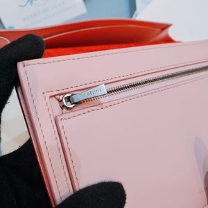 Celine Strap Wallet Red X Pink (New)