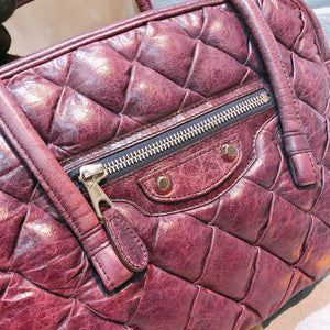 Balenciaga Quilted Top Handle Bag Purple (Used)