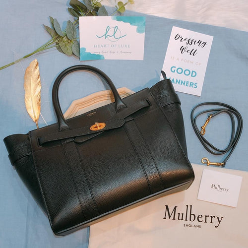 Mulberry Bayswater Bag Small Black (New)