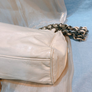 Chanel Chain Shoulder Bag Off White (Used)