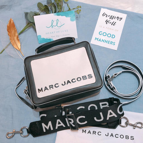 Marc Jacobs Box Bag With Strap Black and White (Used)