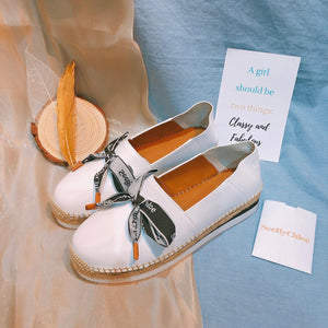 See By Chloe Sneakers Espridrilles Calfskin White Size36 (New)