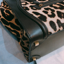Load image into Gallery viewer, Celine Pony Hair Leopard Pattern Mini Luggage Bag (Used)