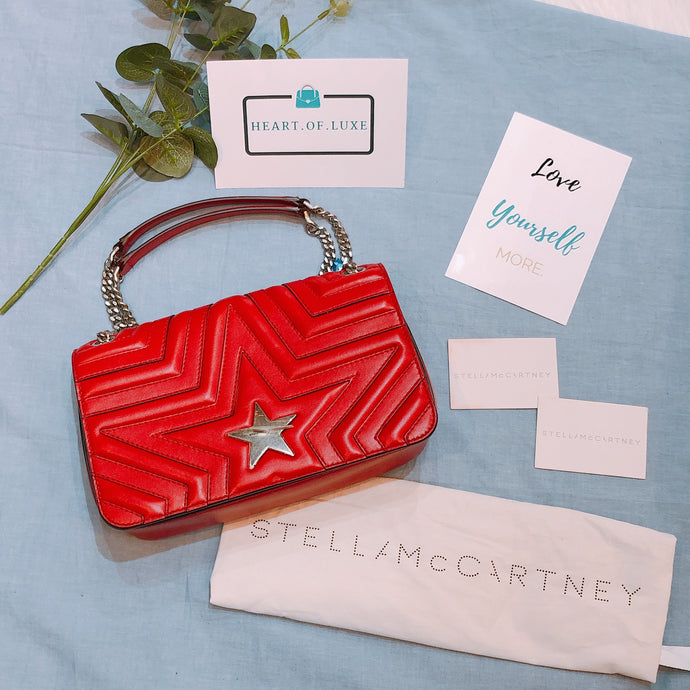 Stella McCartney Stella Star Crossbody Bag Red (Used)