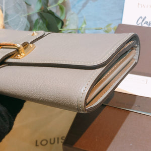Louis Vuitton Flap Long Wallet Grey (Used)