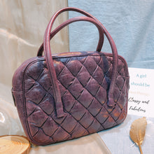 Load image into Gallery viewer, Balenciaga Quilted Top Handle Bag Purple (Used)