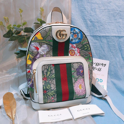 Gucci Floral Monogram Backpack (Used)