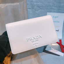 Load image into Gallery viewer, Prada Saffiano Flap Chain Bag White (Used)
